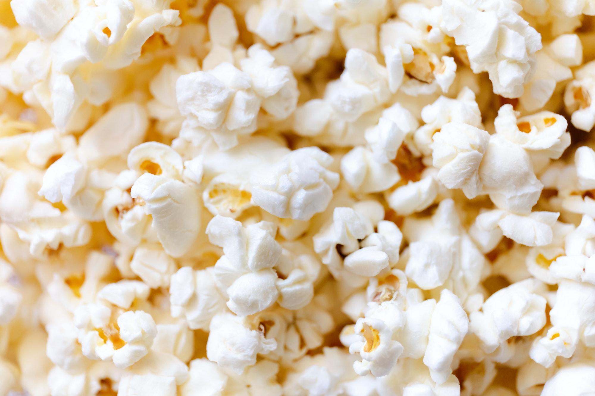 Popcorn background, macro shot